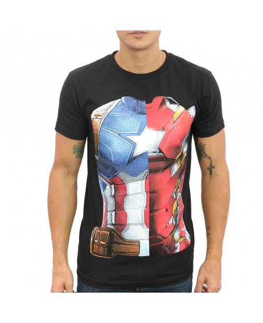 Playera Capitán América VS Iron Man